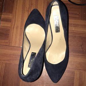 Swede  Navy blue heels